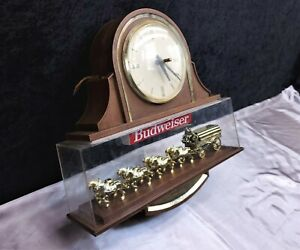 BUDWEISER CLYDESDALE HORSE  BEER LIGHT AND CLOCK  VINTAGE - Great Deal!! 👀