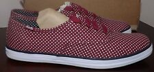 KEDS PATRIOTIC BRAND NEW WOMEN  KEDS POLKA DOT RED WHITE NEW SHOES SZ 9.5