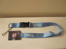 TENNESSEE TITANS Lanyard Key Chain ID Holder STRAP Release White & Blue NFL