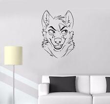 Wall Decal Animal Fox Sly Head Mimicry Face Vinyl Sticker (ed677)
