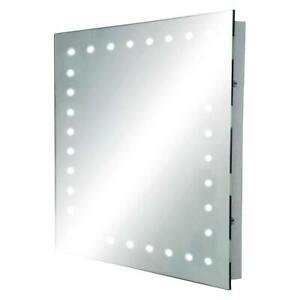 Knightsbridge Rectangular LED Bathroom Mirror & Pullcord Cool White IP44 RCT5039