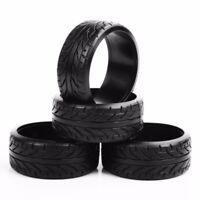 4PCS 1:10 Scale RC Flat Drift Tires Wheel Rim12mm Hex For HSP RC Car Accessories