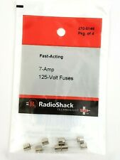 1 Pack of 4 Radio shack 7 Amp 125V Glass GMA Type Fuses 5 x 20 MM Fast Acting