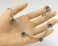Flower Pattern Detail Necklace - N1364 925 Sterling Silver - Vintage Tropical