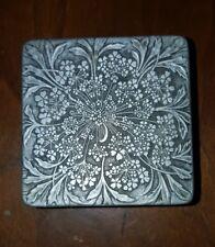 Antique Lalique Aluminum face powder box by Lov Lor Cheramy