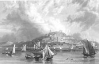 Italy CAGLIARI SARDINIA CASTLE CATHEDRAL, Old 1832 Landscape Art Print Engraving