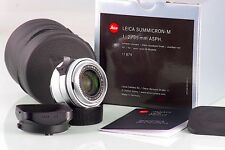 RARE LEITZ LEICA 11882 SUMMICRON-M 2 35mm 35 SILVER E39 NEAR MINT IN BOX