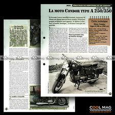#vm087.07 ★ CONDOR 250/350 TYPE A MOTO ★ Fiche Véhicule Militaire