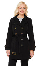 Liz Claiborne New York Double Breasted Trench Coat, Black, XL , $97