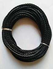 10mt cordino cuoio colore nero 3mm per bracciale,collana bigiotteria