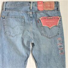 Levi's Men's New 502 0149 34x30 Apple Tree Warp Stretch Blue Jeans Reg Fit Thigh