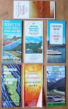 lot vintage brochure map BC British Columbia tourism Vancouver CANADA 1967-1969