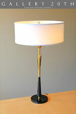 LUXURY! MID CENTURY MODERN REMBRANDT TABLE LAMP! Atomic Vtg 50s 60s Brass Eames