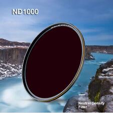 52/58/62/67/77/82mm ND 1000 Neutral Density ND 1000 Lens Filter for DSLR Camera