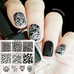 BORN PRETTY Nail Art Stamping Plates Animal Image Stamp Template Square BP-X13