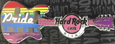 "Hard Rock Cafe MIAMI FL 2017 GAY PRIDE PIN on CARD LE 300 ""FLOAT Guitar RAINBOW!"