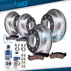 Front Rear Drilled Rotor + Brake Pad for Chevy Avalanche 2500 GMC Sierra 2500 HD