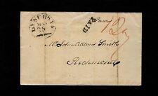 "1830s ""LYNCHG VA"" Lynchburg VA in black on wrapper to John Adams Smith, Richmond"