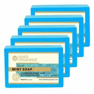 Khadi Organique Natural Herbal Pure Mint Soap Pack of 5