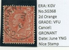 KGV NICE 2d ORANGE SG368 WITH GRONANT CANCEL VFU CLEAN STAMP