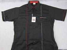 NEW Vintage King Louie Black Bowling Short Sleeve Shirt NOS L USA PBA Deadstock