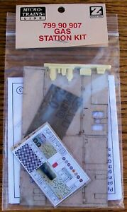 Z SCALE~VERY HARD TO FIND~MTL 799 90 907~GAS STATION KIT~NEW IN PACKAGE