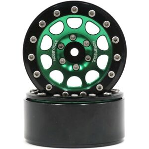 2pcs RC 1.9'' Alloy Beadlock Wheels rims For 1/10 RC 4WD Axial 1.9 Crawler Tires