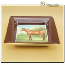 Svuotatasche vintage in ceramica vassoio Royal Bone China Derby Bay cavallo