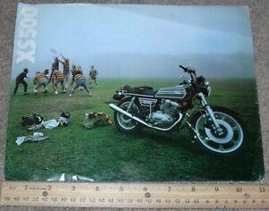 Vintage YAMAHA XS500 Motorcycle Dealer Sales Brochure Specifications