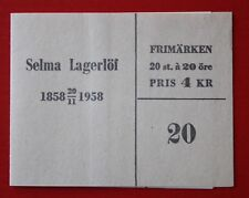 Clearance: Sweden (535a) 1958 Selma Lagerlof booklet