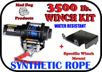 3500lb Mad Dog Synthetic Winch/Mount for '10-'19 Can-am Commander 800 / 1000 / E