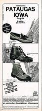 PUBLICITE ADVERTISING 055  1968  PATAUGAS & IOWA chaussures de marche  randonnée