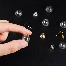 Glass Charms Empty Ball Pendants Crystal Ball Fillable Clear Silver Gold 14mm