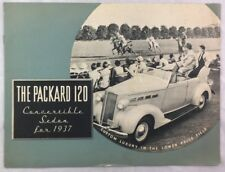 Original Manufacturer Brochure 1937 Packard 120 Sedan Horse Racing Convertible