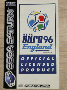 UEFA England Sega Saturn (Manual Only)