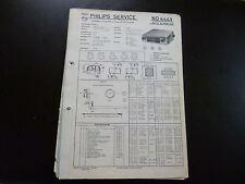 Original Service Manual Car Radio Philips nd444v Car Super 444