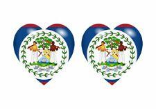 2x Autoadhesivo Pegatina Bandera Corazón Bh Belice