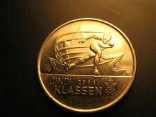 Canada 2009 Vancouver 2010 Olympics Cindy Klassen Plain 25 Cent Mint Coin.