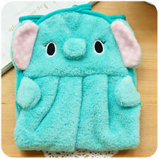 Cute Animal Hand Towel Cartoon Hanging Baby Face Kids Washcloth Bath Water Dry Blue Elephant
