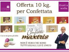 Confetti Maxtris Kit OFFERTA da 10 kg.per Confettata o Bomboniere GUSTI A SCELTA