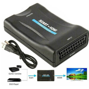 Scart zu auf HDMI Konverter Wandler AV Scaler Converter Adapter 1080P HD TV NEU