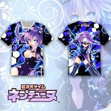 Hyperdimension Neptunia Purple Heart HeT-shirt Tee Tops Multicolor Short Sleeve
