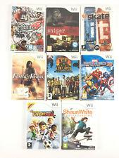 Lot 8 Jeu Wii Garçon : Skate It, Prince of Persia, Koh Lanta, Football Marvel...