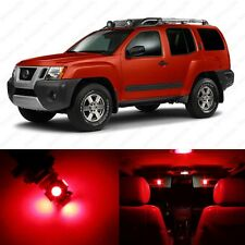10 x Brilliant Red LED Interior Light Package For 2005 - 2013 Nissan Xterra