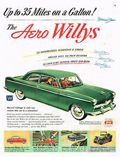 Vintage 1952 Magazine Ad Aero Willys Up To 35 Miles On A Gallon The Aero Willys