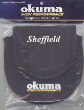 OKUMA SHEFFIELD NEOPRENE CENTERPIN FLOAT FISHING REEL COVER - BLACK
