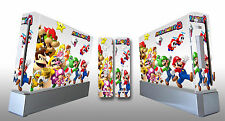 Skin Sticker Cover For NintendoWii Console and 2 Remotes Super Mario Party 216