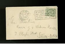 1930 Rome Italy Mini Cover to Australia w/Photo and Letter Cornelio de Marzio