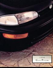 1996 Chevrolet Geo Prizm 22-page Original Sales Brochure Catalog