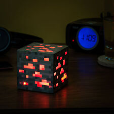 Minecraft Light-Up Redstone Ore Touch Red Block Cube Night Light for Geek